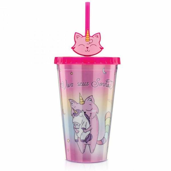 Copo gato unicornio
