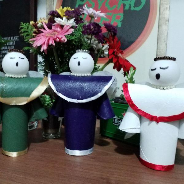 Decoração artesanal de natal - anjinhos