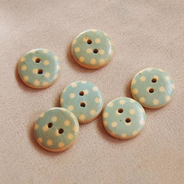 Kit botões bolinhas brancas