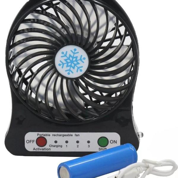 Mini ventilador portátil mesa recarregável usb