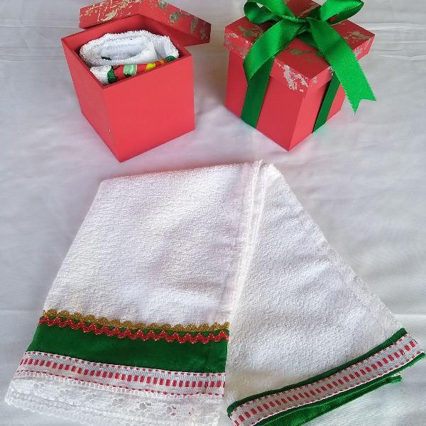 Toalhas de rosto kit presente natal