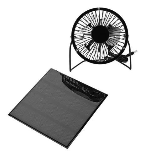 3w 6v ao ar livre painel solar portátil mini ventilador usb