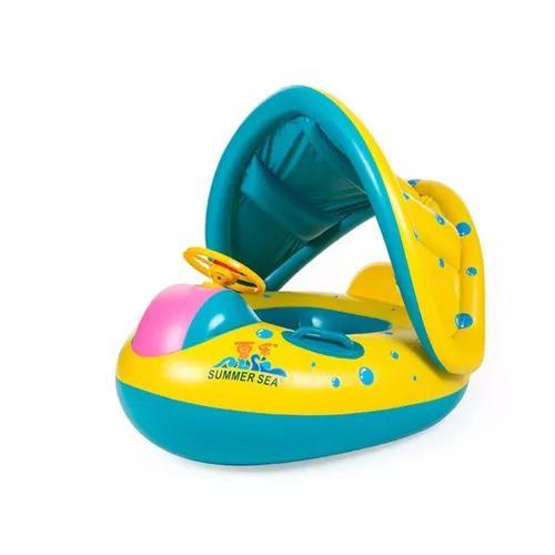 Ajustável guarda-sol bebê crianças natação inflável