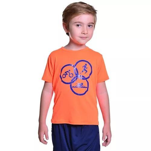 Camiseta para triathlon infantil proteção solar uv