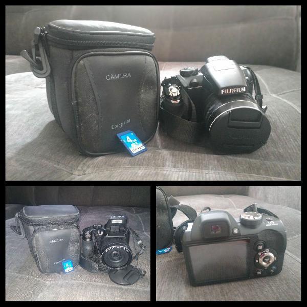 Câmera fujifilm s4500 + bolsa + cartão 4 gb