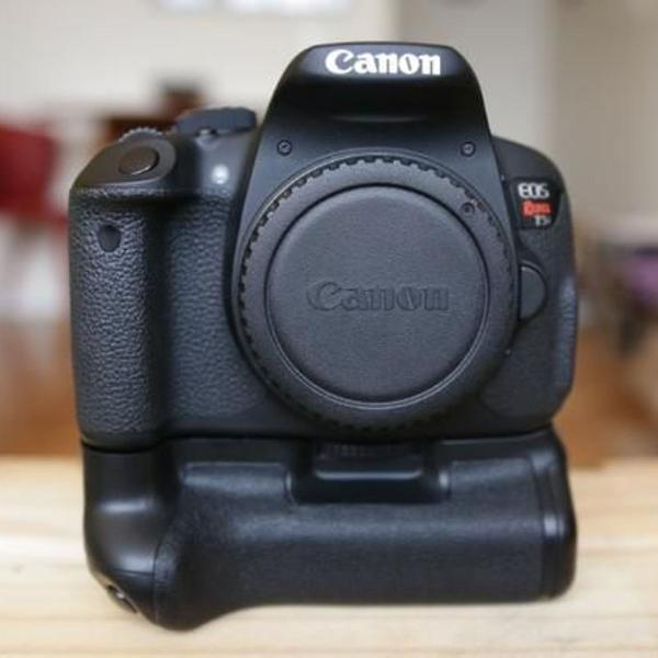 Kit câmera profissional dslr canon eos rebel t5i
