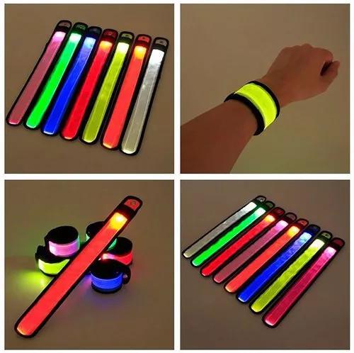 Pulseira de led esportivo luminoso bracelete frete grátis