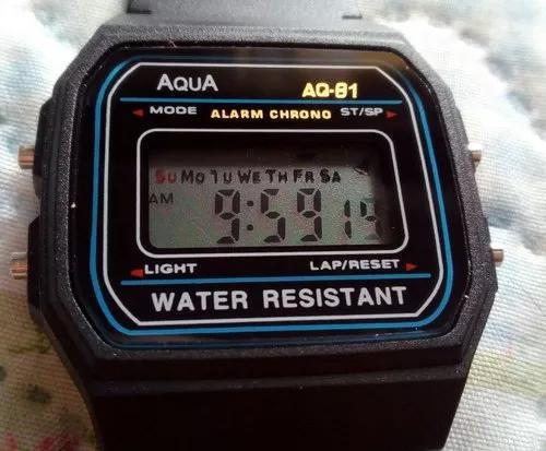 Relógio digital aqua á prova d'agua