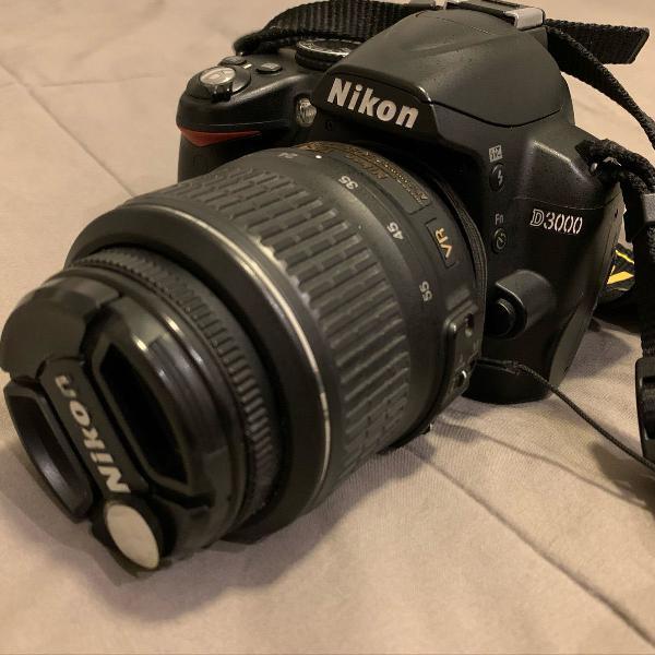 Camera nikon d3000 + lente extra + bolsa