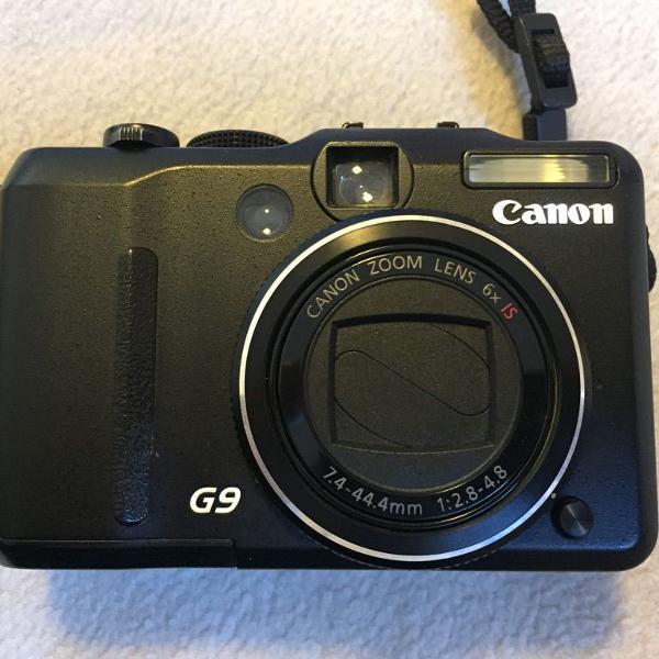 Câmera canon g9 - com 2 bateria e capinha