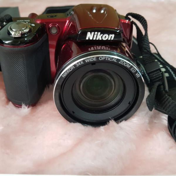Câmera digital nikon 16 mp 34x zoom vídeo full hd coolpix