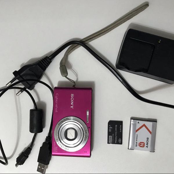 Câmera digital sony cyber shot rosa