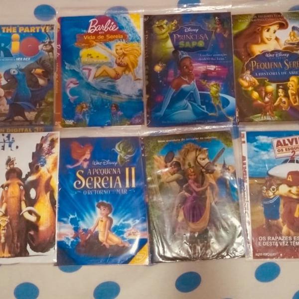 Combo 8 filmes de criança animação ( não dia originais)