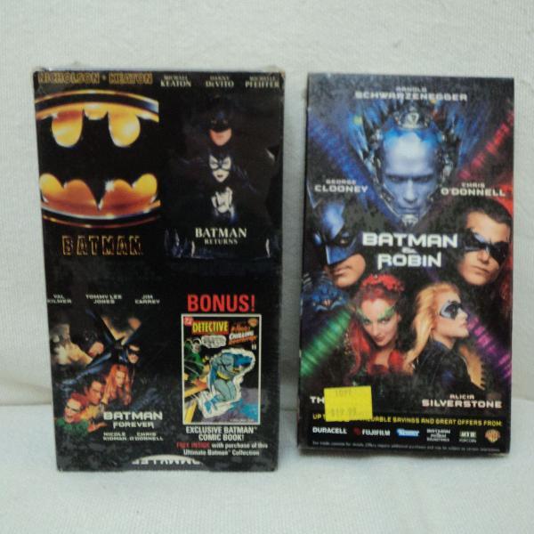 Filmes batman anos 1990 vhs importados lacrados
