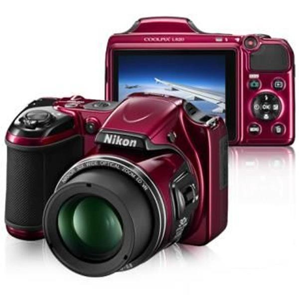 Maquina fotografica nilkon l820 vermelha
