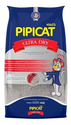 Areia pipicat ultra dry para gatos - 4kg