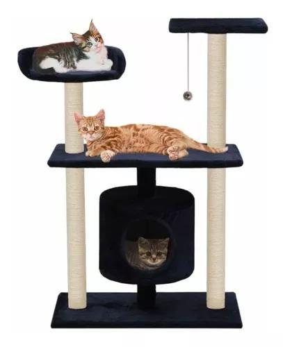 Arranhador para gatos casinha tubo com almofada