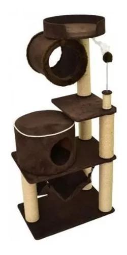 Arranhador para gatos plataforma toca tunel moray suede