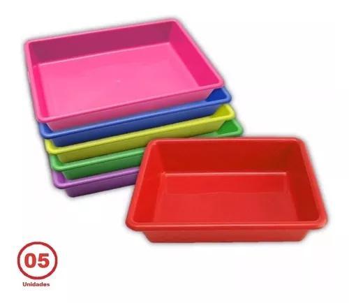 Bandeja higiênica caixa de areia para gato grande 5un