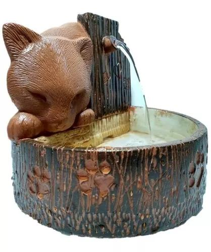 Bebedouro fonte gatos resina cores especiais pronta entrega