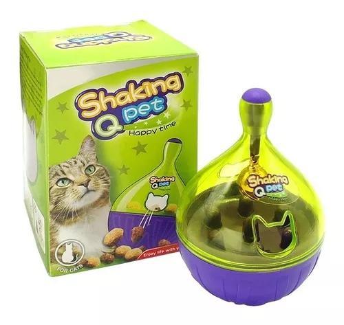 Brinquedo comedouro interativo para gato petisco ração