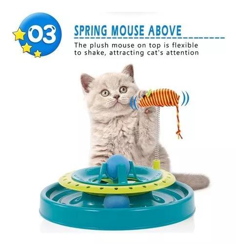 Brinquedo gato interativo mouse bolinha