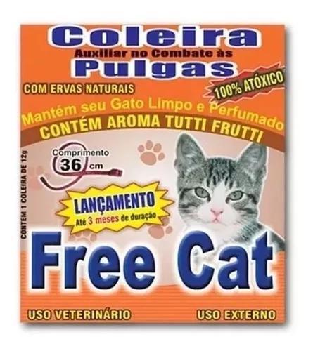 Coleira anti pulgas para gatos 100% natural 02 unidades