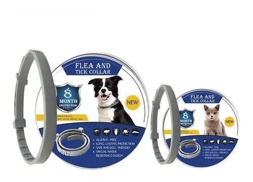 Coleira elimina pulga carrapato gato cachorro duraç. 8