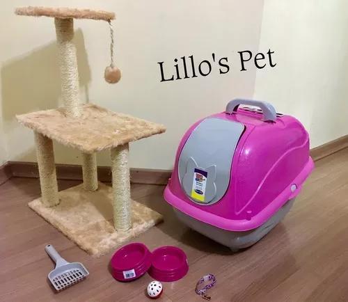 Kit gato 3 bases + banheiro wc cat
