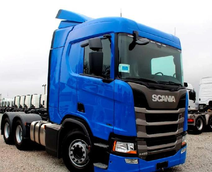 Scania r 450 6x2 highline azul completo ano e modelo 19