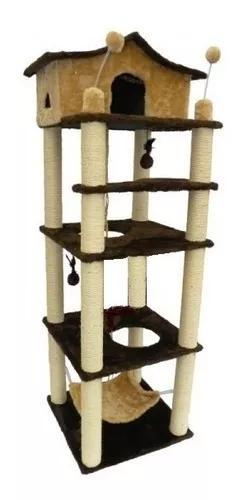 Torre para gatos (arranhador torre 4 and.)super promoção