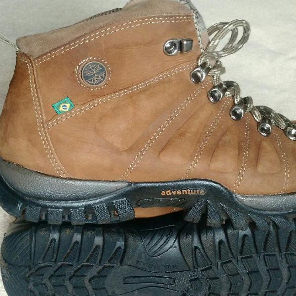 Boots adventure venetto em couro legítimo ótimo estado
