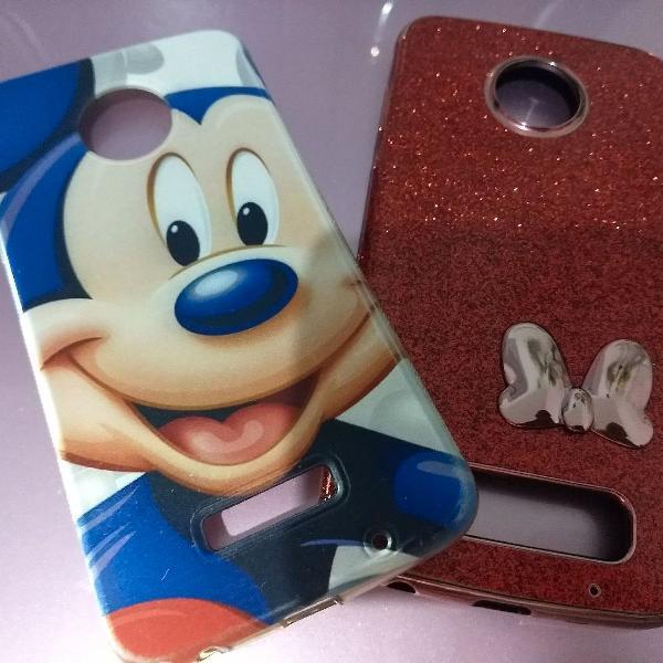 "Capa ( case ) celular moto z2 play ""mickey"""