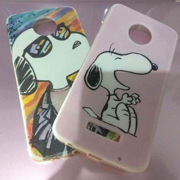 "Capa (case) celular moto z2 play ""snoopy"""