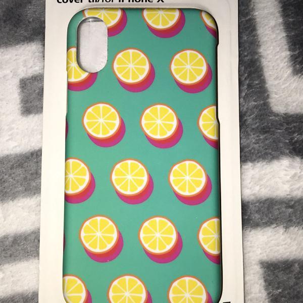Capa de iphone x importado limão