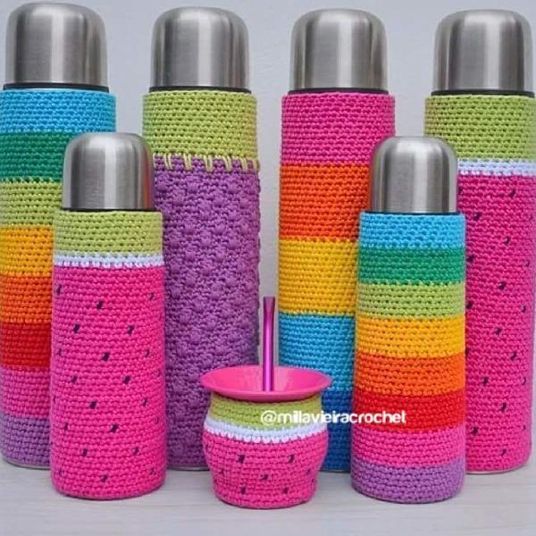 Capas para garrafas térmicas completo coloridos