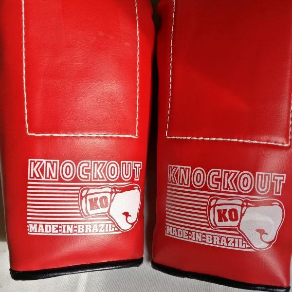 luva bate saco treinamento boxe knockout nova