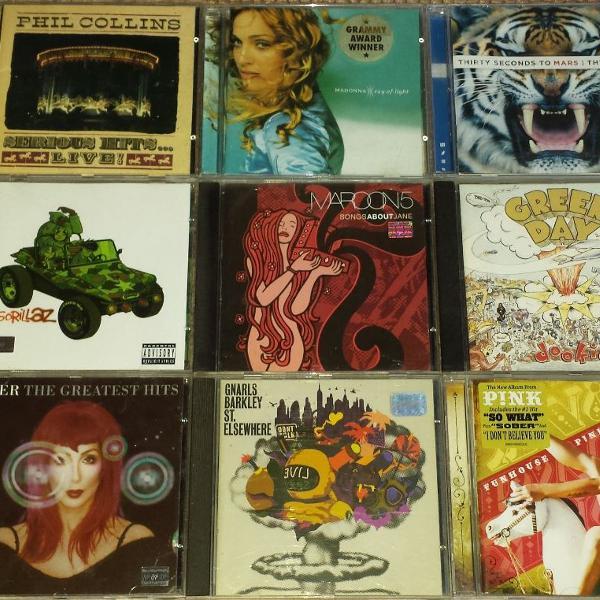 15 cds originais pop rock
