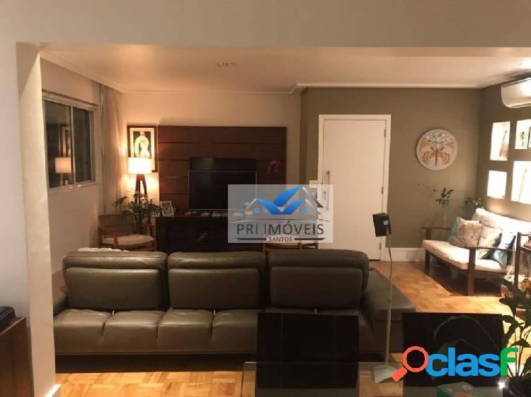 Apartamento com 3 dormitórios à venda, 140 m² por r$ 798.000 - gonzaga - santos/sp
