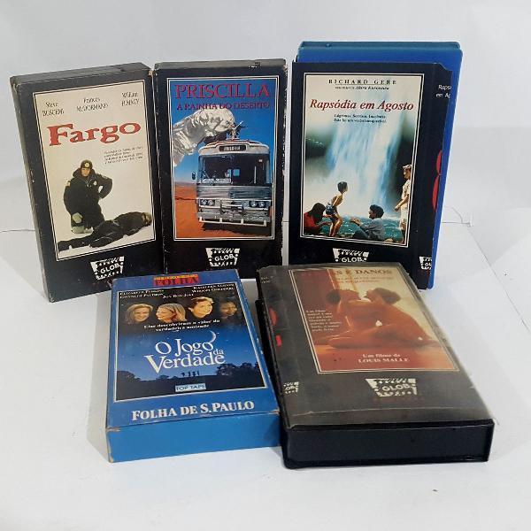 5 filmes vhs coleção o globo e folha