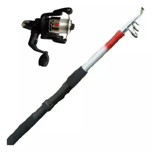 Kit pesca leve 1 vara 1,70m 1 molinete 3 rol 100m linha