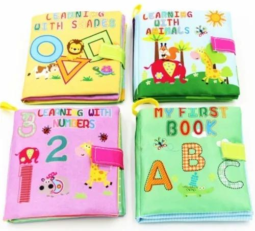 Livro tecido pano bebê promoção