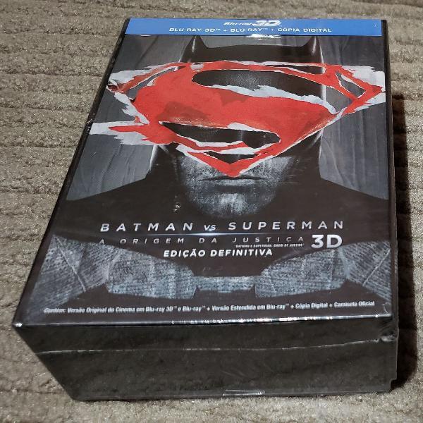 Box ed colecionador batman vs superman com camisa