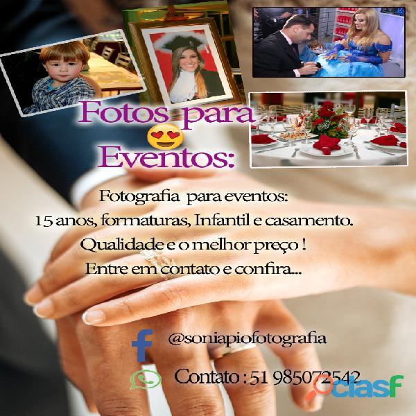 Fotos para eventos.