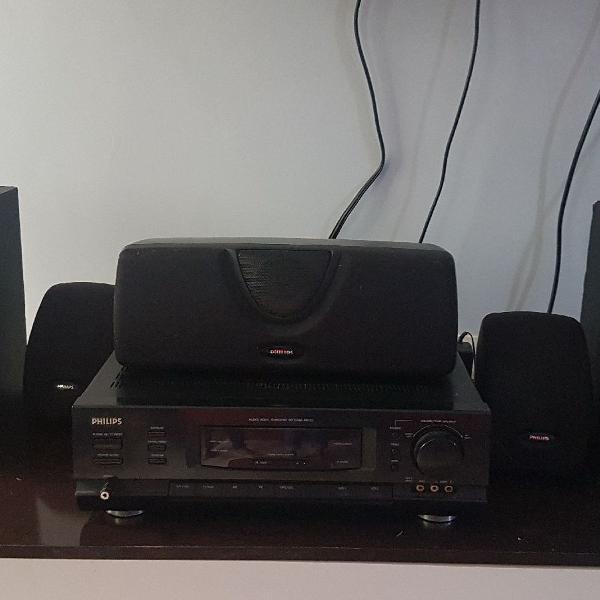 Home theater receiver philips fr 732. em perfeito estado,