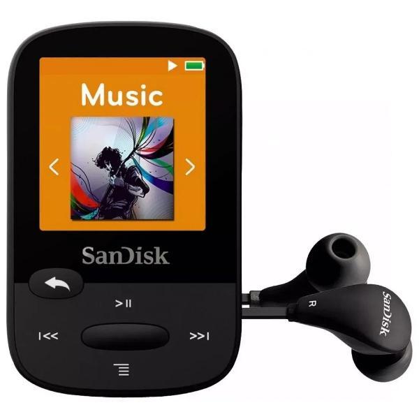 Sandisk clip sport mp3 player 8gb preto lacrado