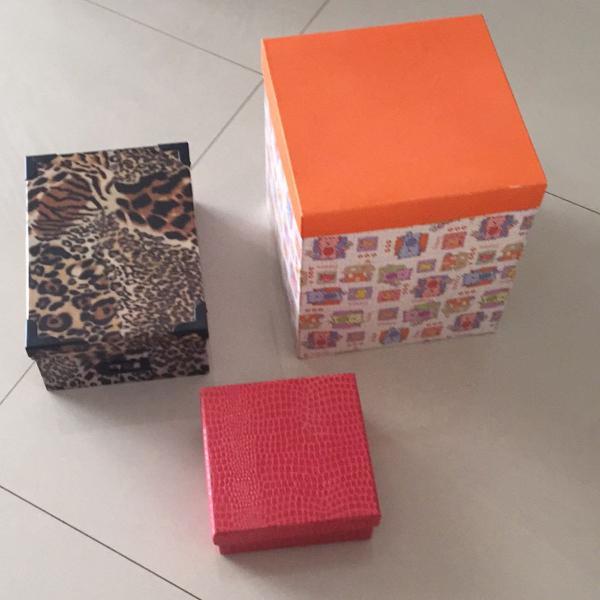 3 caixas resistentes para presentes