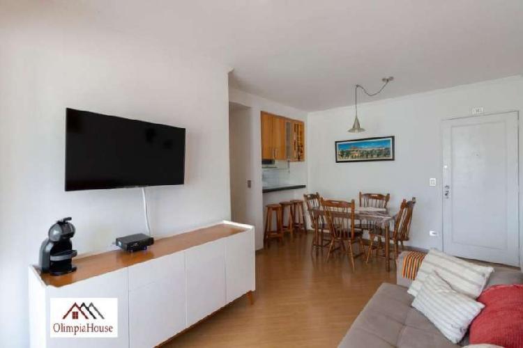 Apartamento para locação com 50m² - consolação, sp