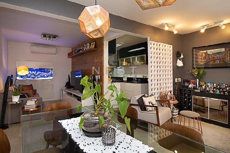 Apartamento reformado e super charmoso, no brooklin, com 110