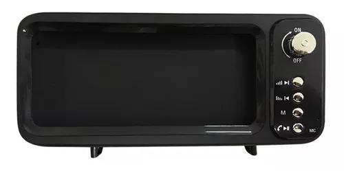 Caixa som bluetooth usb/sd com suporte para celular tv